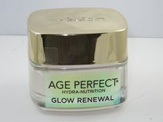 """LOreal Glow Renewal Moisturizer. Restore skin's youthful glow with Age Perfect Glow Renewal. It deeply nourishes and replenishes dull, dry skin with a unique blend of 8 Essential oils. The non-greasy and luxuriously lightweight formula absorbs quickly for all-day hydration."""""""