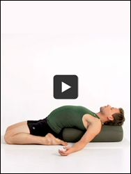 This sequence, including supported versions of Reclining Hero, Wide-Legged Standing Forward Bend, and Down Dog, will help you feel refreshed throughout the holiday season.