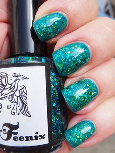 Feenix Shake Your Tailfeathers over Nails Inc Eden Grove $10