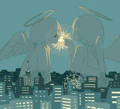 Dark Art Illustrations, Illustration Art, Sad Anime, Anime Art, Sun Projects, Vent Art, Ange Demon, Arte Obscura, Sad Art