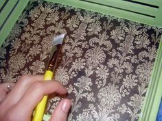 How to Decoupage a Serving Tray
