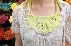 DIY Lace Doily Bib Necklace