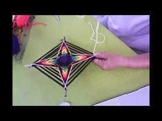Mandala: Fractals of the Fruit of Life Yarn Wall Art, Art Yarn, Crochet Mandala, Mandala Art, Arte Chakra, God's Eye Craft, Kite Designs, Dream Catcher Craft, Rope Art