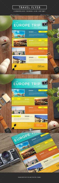 Travel Flyer Template PSD. Download here: http://graphicriver.net/item/travel-flyer/16642014?ref=ksioks