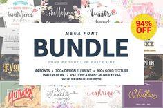 Mega Handmade Font Bundle