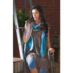 Mary Maxim - Free Scallop Scarf Knit Pattern - Free Patterns - Patterns & Books