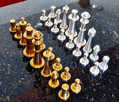 I recently saw this chess set by Kelly Fasnacht posted over on the LinkedIn CNC Programming group and thought it wa really neat. What I like best about it is all the pieces can be made on a lathe.…