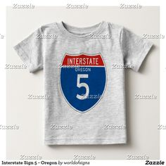 Interstate Sign 5 - Oregon Baby T-Shirt