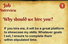 The first tricky question of Here is the best answer of this. Be confident, Prepare yourself and get the job. We have more then 100 questions and best answers. So keep in touch. Job Interview Preparation, Interview Questions And Answers, Job Interview Tips, 100 Questions, This Or That Questions, Job Interviews, Interview Techniques, Job Resume, Resume Tips
