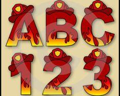 Pata de patrulla letras del alfabeto y números por AisnesCreations