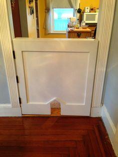 kitchen door to dining room   Homemade by Augustsnow: Adventures in Life: Half Door with Cat Door