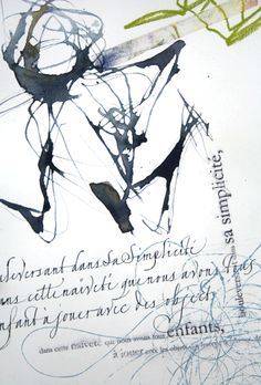 duplaisir7 by Sophie Verbeek Nice contrast between the formal and expressive calligraphy