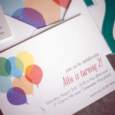 Printable Balloon Birthday Invitations  by ChelseyEmery on Etsy, $2.25
