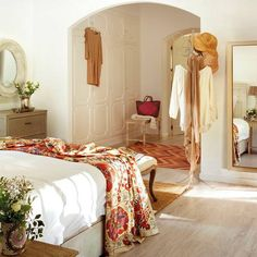 spanish inspired home bedroom decor Home Bedroom, Bedroom Decor, Bedrooms, Bedroom Furniture, Interior Decorating, Interior Design, Modern Interior, Decorating Ideas, Dream Rooms