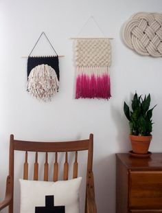 Dyed Roving Weaving | Hand Woven Wall Hanging by SheLovesLife