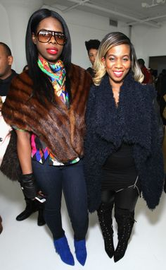 NEW YORK, NY - FEBRUARY 14: Hairstylist Lavette Slater (R) and guest attend SheaMoisture at Laquan Smith F/W 2016 NYFW at Jack Studios on February 14, 2016 in New York City. (Photo by Bennett Raglin/Getty Images for SheaMoisture)