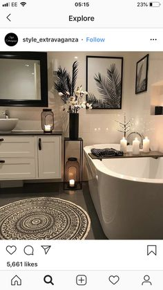 I love the tones and the candles and the bathtub tray