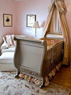 beige bed crown crib canopy1 Bed Crown and Crib Canopy Inspirations