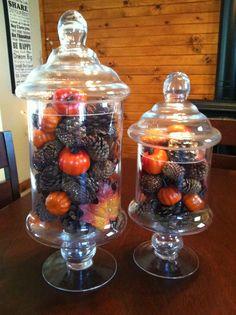 Fall decor jars from Tj Maxx $9.99