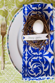 vibrant napkins and tablecloths from Hen House Linens: Easter table inspiration