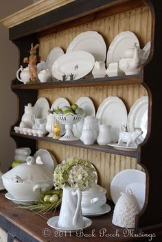 I think I would like white misc. dishes on the dresser in the dining room