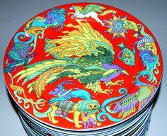 FIREBIRD - GROSSER TELLER - GRANDE ASSIETTE - PIATTO GRANDE - LARGE PLATE - PLATO LLANO 27 cm, 10-5/8 in. Geeignet als Essteller, Platzteller, Anrichteteller, Obstschale usw. in verschiedenen Farbvariationen. Einzelgewicht: 732g . http://stores.ebay.de/BOPLA-SCHWEIZER-QUALITATSPORZELLAN
