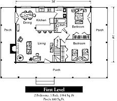 one story log cabin floor plan