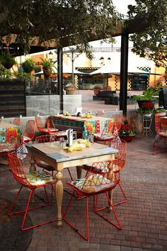 The patio at Cucina Enoteca in Irvine, so many wonderful decorating ideas at this place.