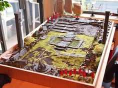 Bloodbowl pitch... go to the page to see more pictures. It is amazing! http://imgur.com/a/eFpof