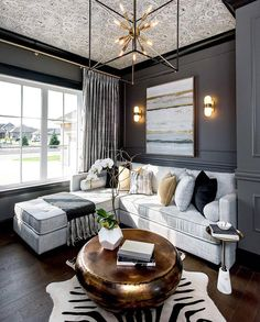 Dark walls and gold fixtures ... | by @mrcurtiselmy |