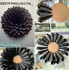 Gorgeous black paper wreath!