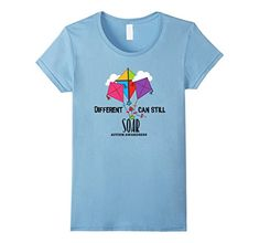 Womens Autism Awareness Shirt Different Can Soar Dad, Mom, Shirt Small Baby Blue Cute shirt, great message-Different Can Still Soar. Great for moms, dads, adults, kids.Great Different Can Still Soar Autism t shirt is a perfect Auti...  #Autism #AutismAwareness #AutismHour #AutismInMyLife #AutismParents #AutismTMI #Autistic #Awareness #Baby #Blue #DAD #Mom #Shirt #Small #Soar #Womens