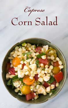 Fresh Corn Salad With Scallions And Basil Recipe — Dishmaps