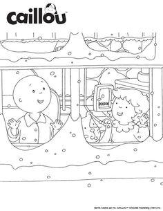 Caillou Holiday Fun – Let it Snow Coloring Sheet!