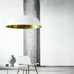 NORR11 Cloche Three Pendant Lamp - Brass
