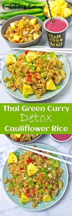 Thai Green Curry Detox Cauliflower Rice | #vegan #glutenfree #contentednesscooking