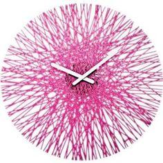 acrylic clock - laser cut. === looks like faux string art