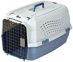 AmazonBasics 23Inch TwoDoor TopLoad Pet Kennel *** Check out this great product.