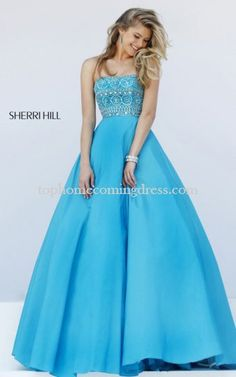 2016 Turquoise Sherri Hill 32362 Beaded Pink Prom Dress