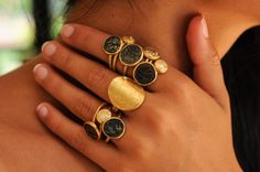 Discover a large selection of Karen Liberman rings at WHITE bIRD this spring - all handmade and each one unique