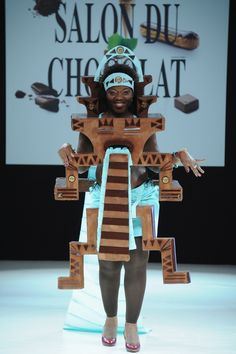 <b>At the Salon Du Chocolat fashion show in Paris, the clothes are (mostly) made of chocolate.</b>