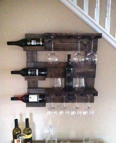 Wine rack rustic wine rack reclaimed wood wall wine rack by TheWoodenOwl   Etsy