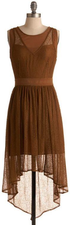 ModCloth  Do You See What I Sepia Dress