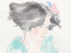 in blue light - Małgorzata Iracka Fashion Illustration