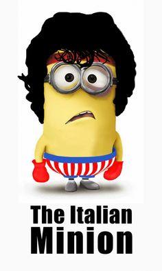 Rocky Minion - minion humor funny - Despicable Me movie Minions Film, Amor Minions, Cute Minions, Minion Movie, Minions Despicable Me, Minions Quotes, Minion Humor, Minions 2014, Minion Stuff