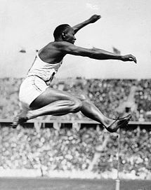 """Jesse Owens wins 4 gold medals at the 1936 Olympic games. He was quoted saying the secret behind his success was """"I let my feet spend as little time on the ground as possible. From the air, fast down, and from the ground, fast up"""