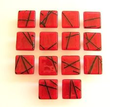 Beautiful collections of glass works for your home ~ Red Kitchen Backsplash Tile, Glass Floor Tile, Wall Tile, Pool Tile