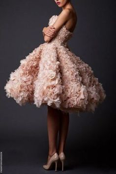designer dresses to die for Krikor Jabotian F/W 2014 Collecton Couture Fashion, Paris Fashion, Runway Fashion, Fashion Show, Style Fashion, Robes Tutu, Homecoming Dresses, Wedding Dresses, Tulle Dress