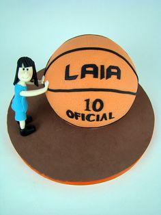 tarta balon  baloncesto esferica