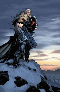 Chris Bachalo - Cable pinup, from the  Last Page of X-Men #205